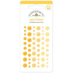 Monochromatic Sprinkles Glossy Enamel Arrow Stickers 54/Pkg - Bumblebee