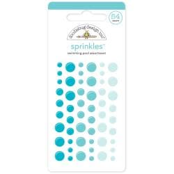 Monochromatic Sprinkles Glossy Enamel Arrow Stickers 54/Pkg - Swimming Pool