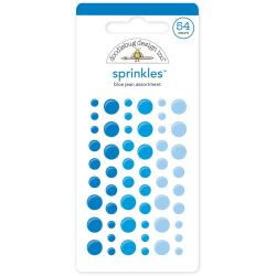 Monochromatic Sprinkles Glossy Enamel Arrow Stickers 54/Pkg - Blue Jean