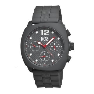 Mos Men's Grey Silicone Berlin Grey Analog Watch