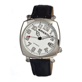 Breed Men's 'Benny' Black Strap White Dial Automatic Analog Watch