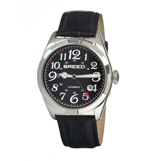 Breed Men's 'Adam' Black Leather Strap Automatic Analog Watch