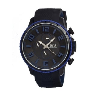 Mos Men's Black Silicone 'Barcelona' Analog Watch