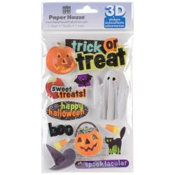Paper House 3-D Sticker - Trick Or Treat
