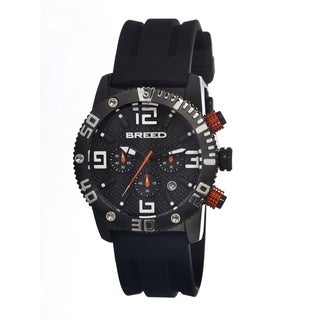 Breed Men's 'Agent' Black Silicone Strap Chronograph Analog Watch