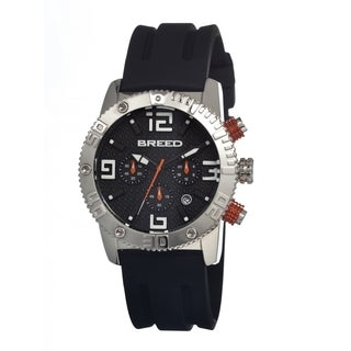 Breed Men's 'Agent' Black Dial Analog Watch