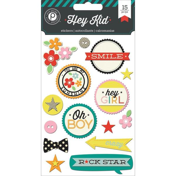 Hey Kid Layered Chip Stickers 4 X6 Sheet -
