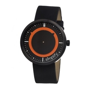 Simplify Men's 'The 700' Black Leather Strap Analog Watch