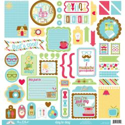 Day To Day This & That Cardstock Stickers 12 X12 -