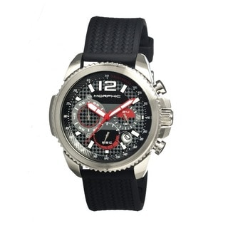 Morphic Men's 'M28 Series' Black Silicone Black Analog Watch