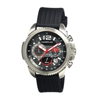 Morphic Men's 'M28 Series' Black Silicone Black Analog Watch