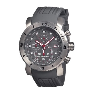 Morphic Men's 'M26 Series' Grey Silicone Grey Analog Watch