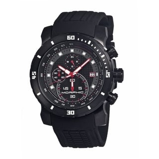 Morphic Men's 'M26 Series' Black Silicone Black Analog Watch