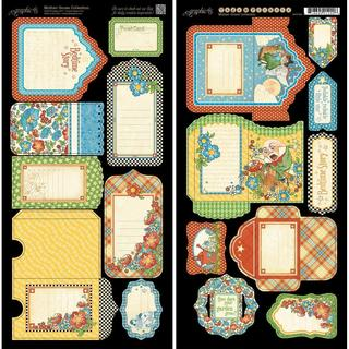 Mother Goose Cardstock Die-Cuts 6 X12 Sheets 2/Pkg - Tags & Pockets