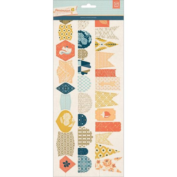 Persimmon Stitched Die-Cut Paper Garland 12 -