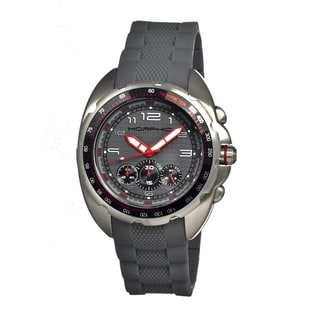 Morphic Men's 'M25 Series' Grey Silicone Grey Analog Watch