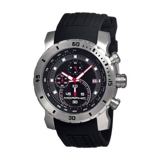 Morphic Men's 'M26 Series' Silicone Strap Black Dial Watch