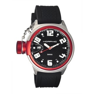 Morphic Men's 'M24 Series Red' Black Silicone Watch