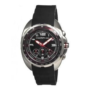 Morphic Men's M25 Series Black Silicone Black Analog Watch