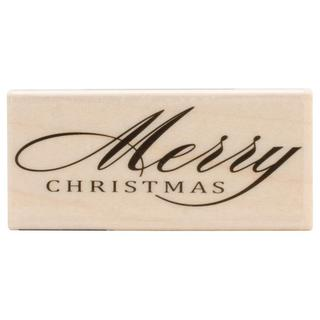 Hero Arts Mounted Rubber Stamps 2.5 X1.25 - Fancy Merry