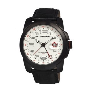 Morphic Men's 'M14 Series' Black Leather White Dial Watch