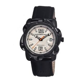 Morphic Men's 'M12 Series' Black Leather Silvertone Dial Watch