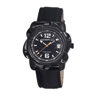 Morphic Men's 'M12 Series' Black Leather Strap Watch