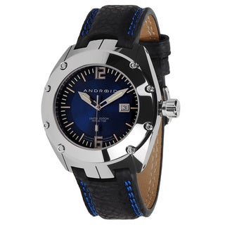 Android Men's 'Virtuoso' Blue Dial Tungsten Black Strap Watch