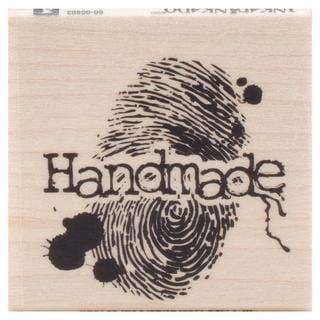 Inkadinkado Halloween Mounted Rubber Stamp 1.75 X1.75 - Handmade Fingerprint