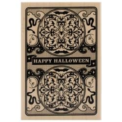 Inkadinkado Halloween Mounted Rubber Stamp 2.75 X4 - Halloween Playing Card