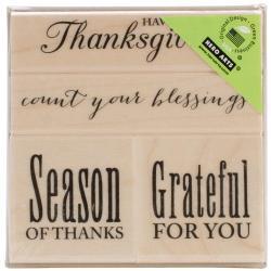 Hero Arts Mounted Rubber Stamp Set 3 X3 - Joyful Thanksgiving
