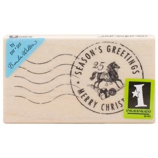 Inkadinkado Christmas Mounted Rubber Stamp 1.75 X3 - Season's Greetings Postmark