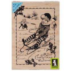 Inkadinkado Christmas Mounted Rubber Stamp 3.5 X5 - Christmas Wishes