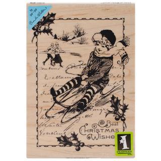 Inkadinkado Christmas Mounted Rubber Stamp 3.5 X5 - Christmas Wishes