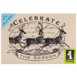 Inkadinkado Christmas Mounted Rubber Stamp 2.75 X4 - Celebrate The Season