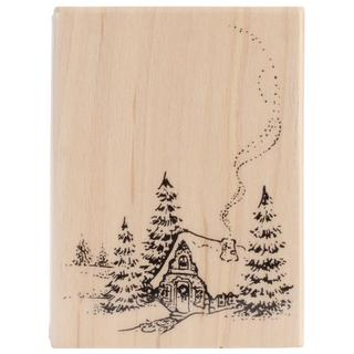 Penny Black Mounted Rubber Stamp 2.5 X3.25 - Christmas Cottage