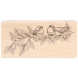Penny Black Mounted Rubber Stamp 2.5 X5 - Holly Concert