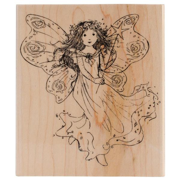 Penny Black Mounted Rubber Stamp 4 X4.5 - Winged Fairy