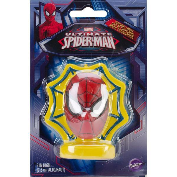 Candle 3 1/Pkg - Spider-Man
