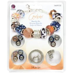 Large Hole Bracelet Kit - Amber 14pcs