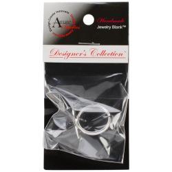 Designer's Semi-Adjustable Flat Round Ring 20mm 1/Pkg - Silver Overlay