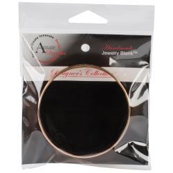 Designer's Channel Bangle Bracelet 8.5 1/Pkg - Copper