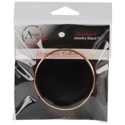 Designer's Channel Bangle Bracelet 7.5 1/Pkg - Copper