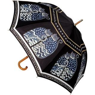 Laurel Burch Stick Umbrella 42 Canopy Auto Open - Polka Dot Cats