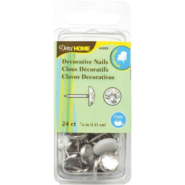 Upholstery Decorative Nails 7/16 24/Pkg - Clear Stone