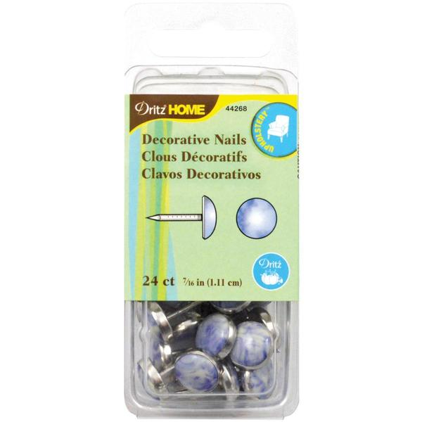 Upholstery Decorative Nails 7/16 24/Pkg - Blue Stone