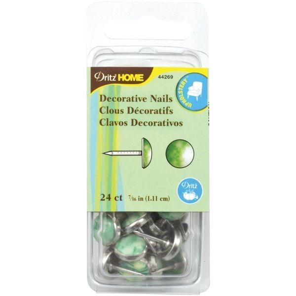 Upholstery Decorative Nails 7/16 24/Pkg - Green Stone
