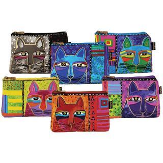 Whiskered Cats 9-1/4 x 6-3/4 Cosmetic Bag Zipper Top Assortment