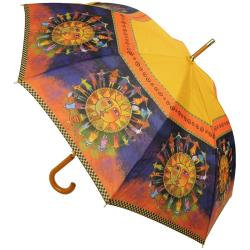 Laurel Burch Stick Umbrella 42 Canopy Auto Open - Harmony Under The Sun