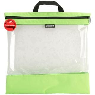 Seeyourstuff Clear Storage Bags 16 X16 - Lime